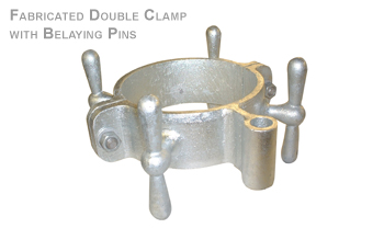 FABRICATED DOUBLE CLAMP WITH BELAYING PINS